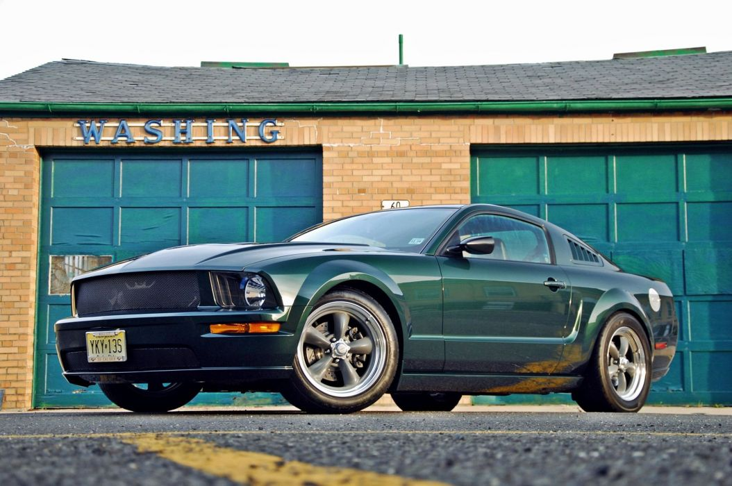 2009 Ford Bullitt Mustang muscle hot rod rods wallpaper