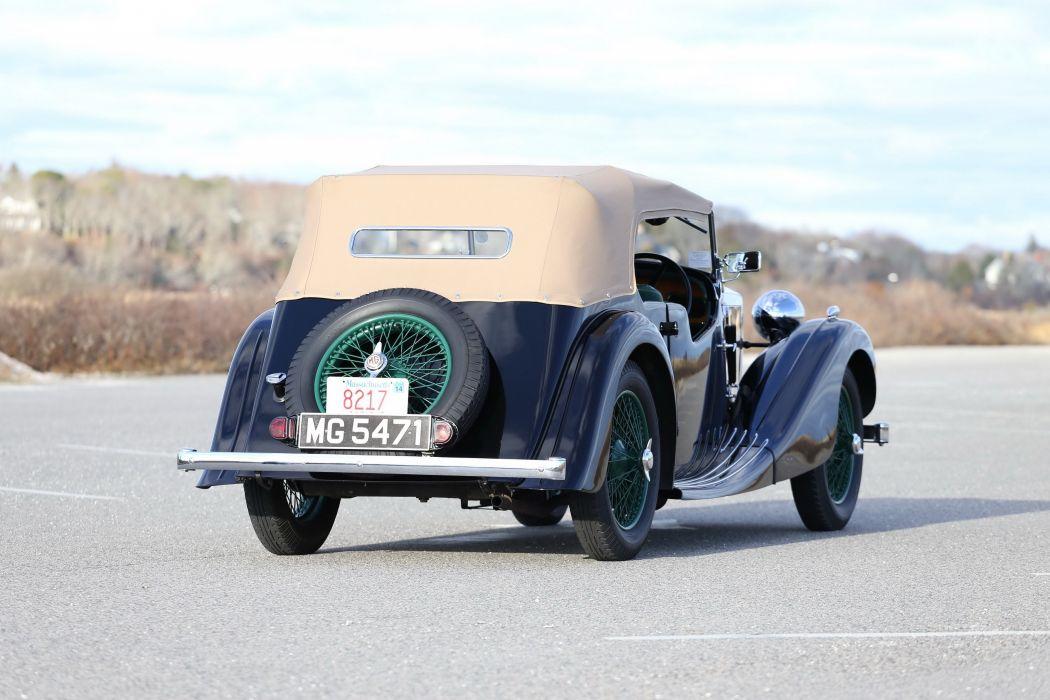 1937 MG VA CHARLESWORTH TOURER vintage luxury m-g v-a wallpaper