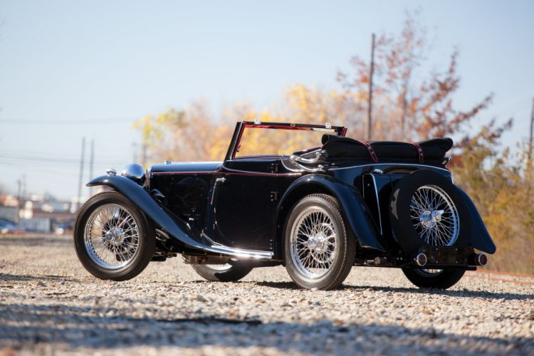 1936 MG TA vintage m-g t-a luxury wallpaper