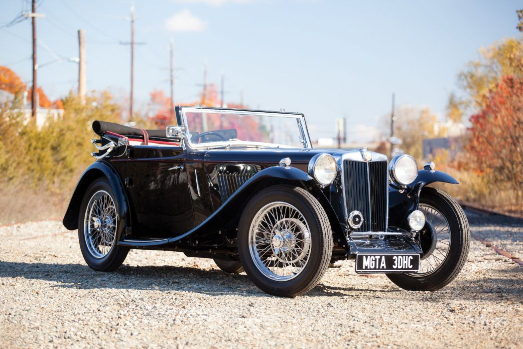 1936 MG TA vintage m-g t-a luxury wallpaper