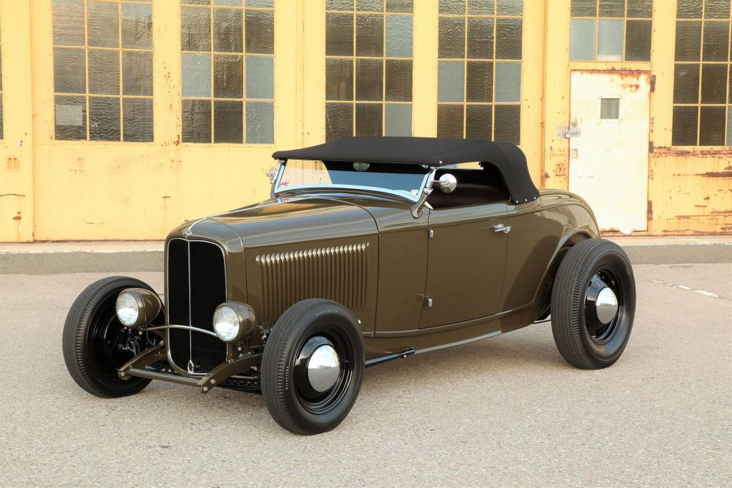 1932 Ford Highboy Roadster vintage custom hot rod rods wallpaper