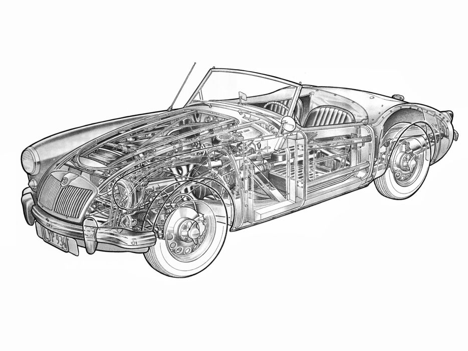 1958-60 M-G MGA Twin-Cam Roadster british retro convertible wallpaper