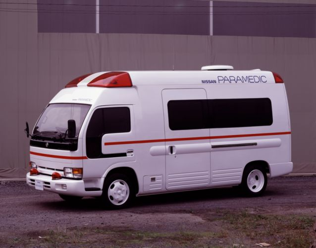1991 Nissan Paramedic Concept emergency fire firetruck ambulance van semi tractor wallpaper
