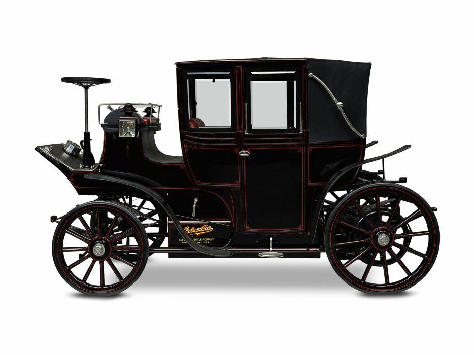 1899 Columbia Mark XXXV Electric Landaulet vintage luxury wallpaper