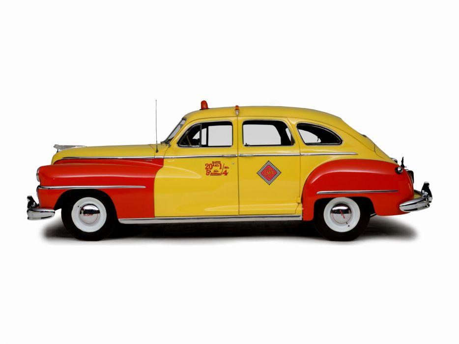 1946 DeSoto Custom Sedan Taxicab taxi transport retro wallpaper