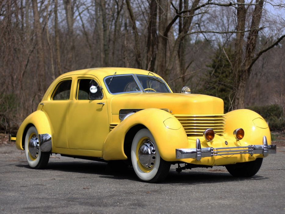 1937 Cord 812 Supercharged Beverly Sedan Bustlback luxury vintage wallpaper