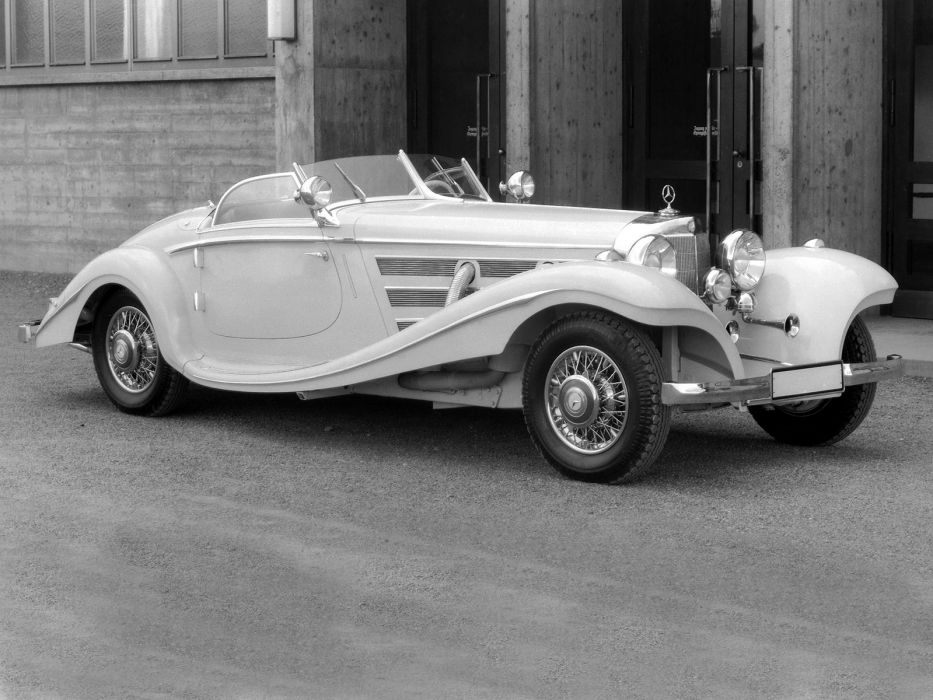 1936 Mercedes Benz 500K Special Roadster vintage luxury wallpaper