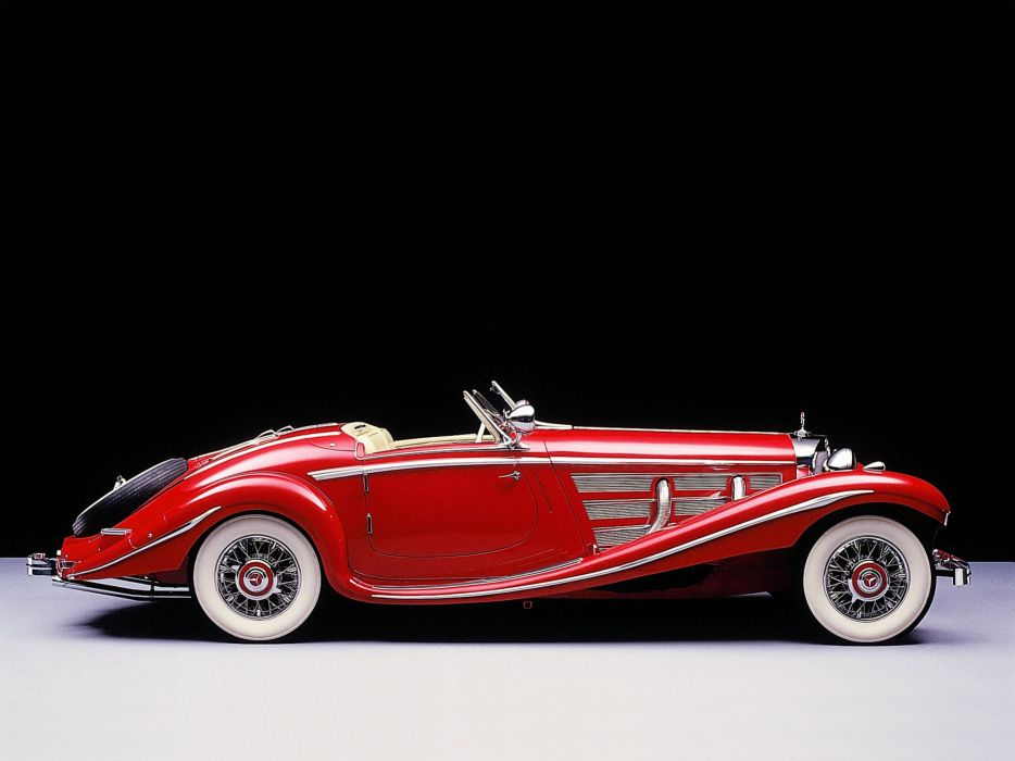 1936 Mercedes Benz 500K Special Roadster vintage luxury wallpaper