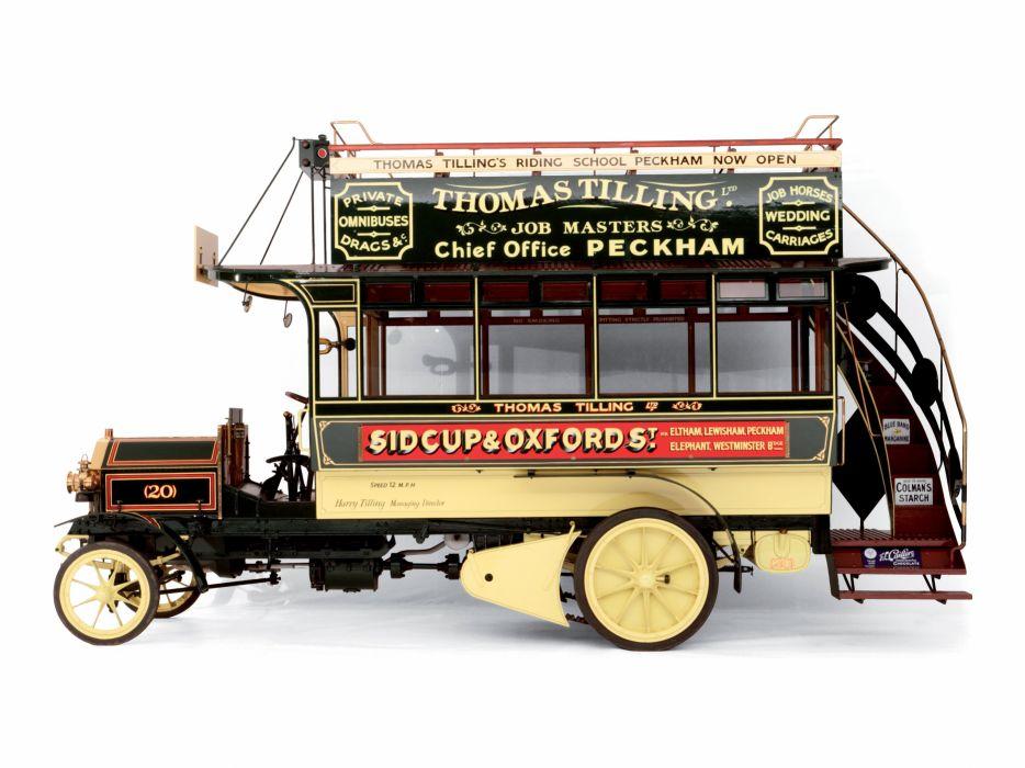 1904 Milnes Daimler Double Decker Bus transport semi tractor wallpaper