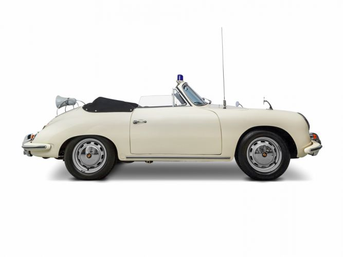 1962 Porsche 356B 1600 Cabriolet Reutter Polizei T-5 police emergency classic wallpaper