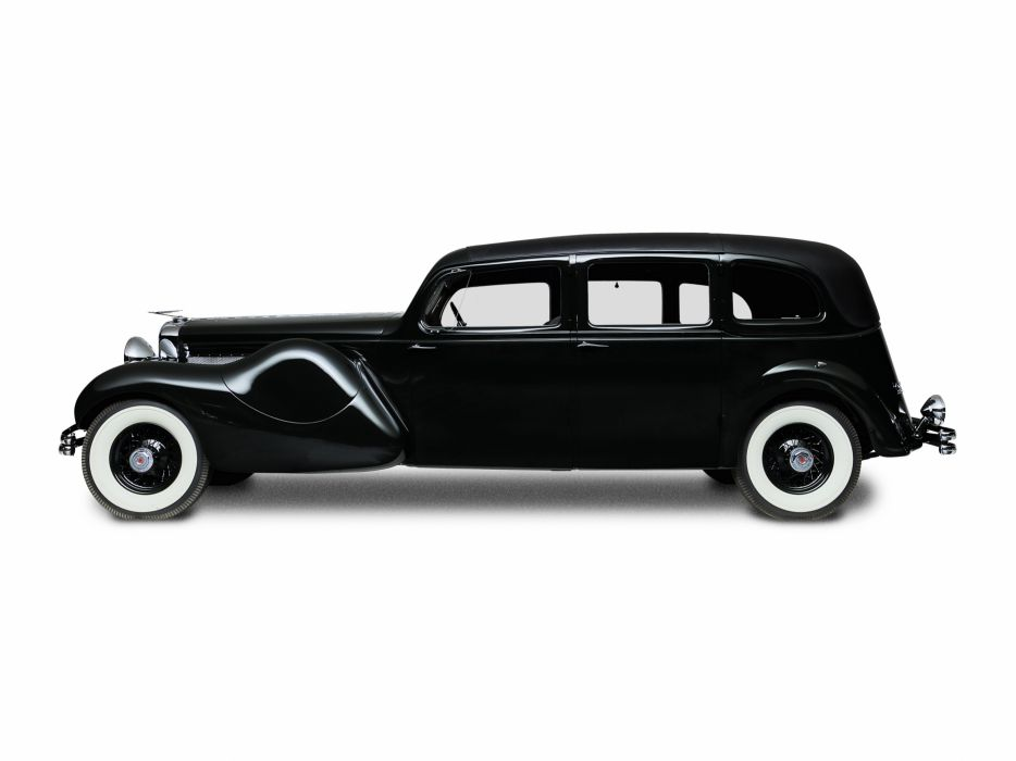 1937 Duesenberg Model-J 587-2613 Throne Limousine Bohman Schwartz luxury vintage wallpaper