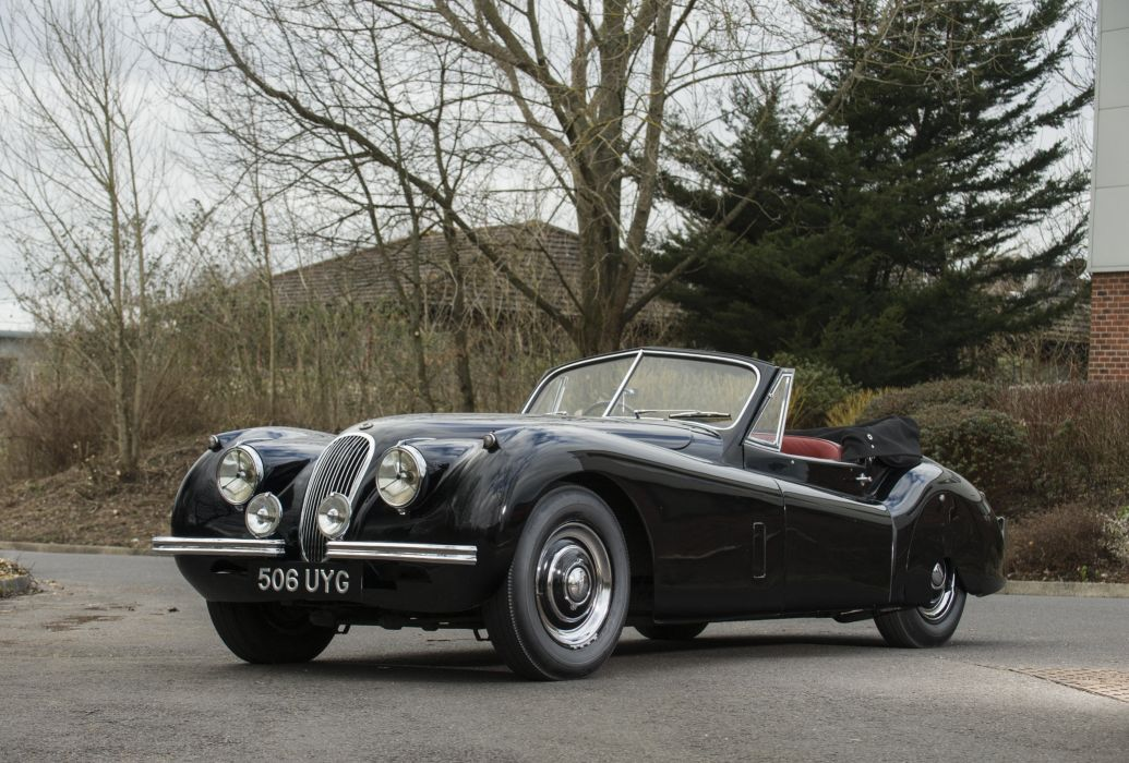 1953 Jaguar XK120 Drophead Coupe UK-spec luxury retro wallpaper