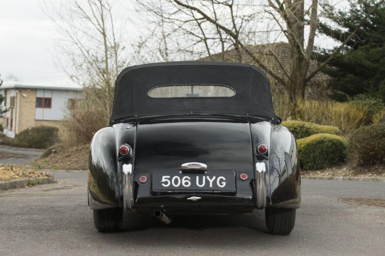 1953 Jaguar XK120 Drophead Coupe UK-spec luxury retro wallpaper