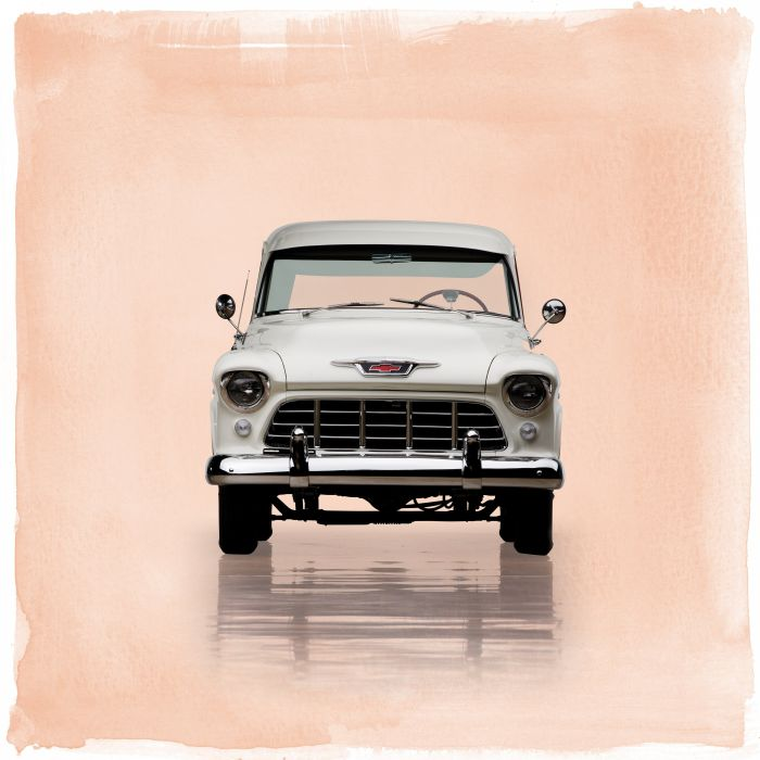 1955 Chevrolet 3100 Cameo Carrier Suburban Pickup retro wallpaper