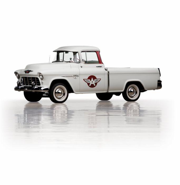 1955 Chevrolet 3100 Cameo Carrier Suburban Pickup retro wallpaper
