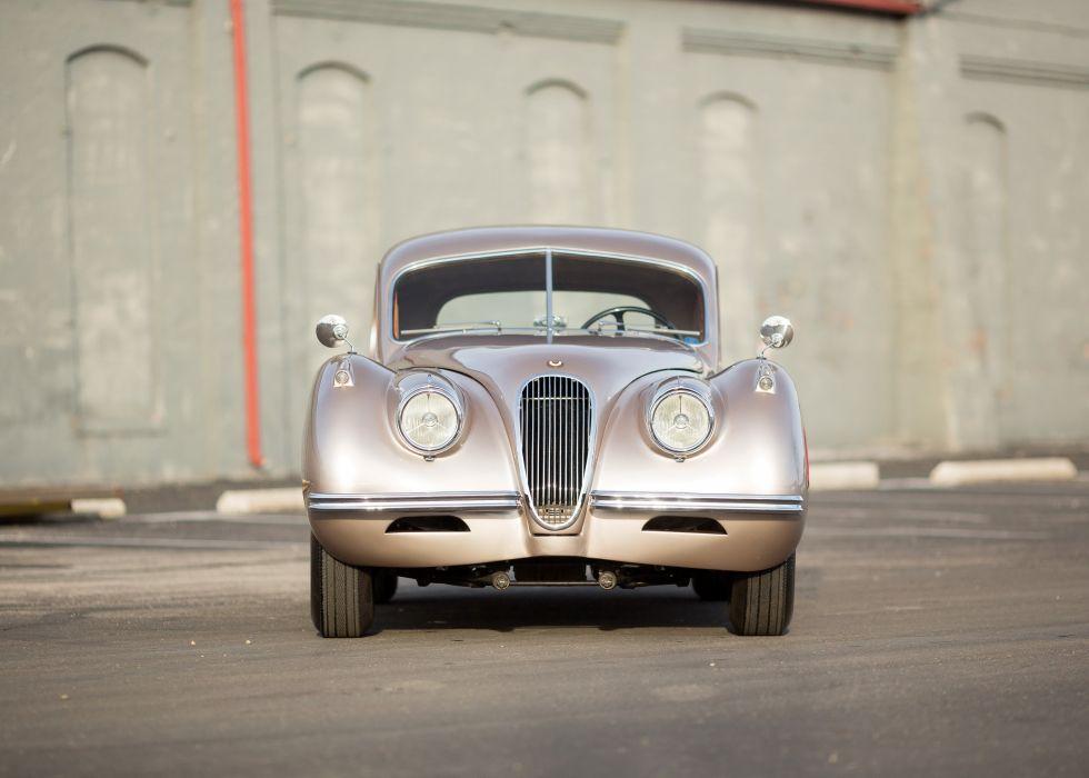 1954 Jaguar XK120 Fixed Head Coupe luxury retro wallpaper