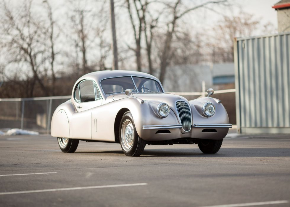 1954 Jaguar XK120 Fixed Head Coupe luxury retro wallpaper