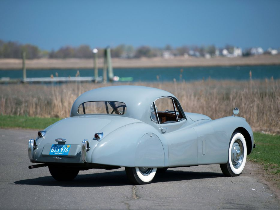 1951 Jaguar XK120 Fixed Head Coupe luxury retro wallpaper