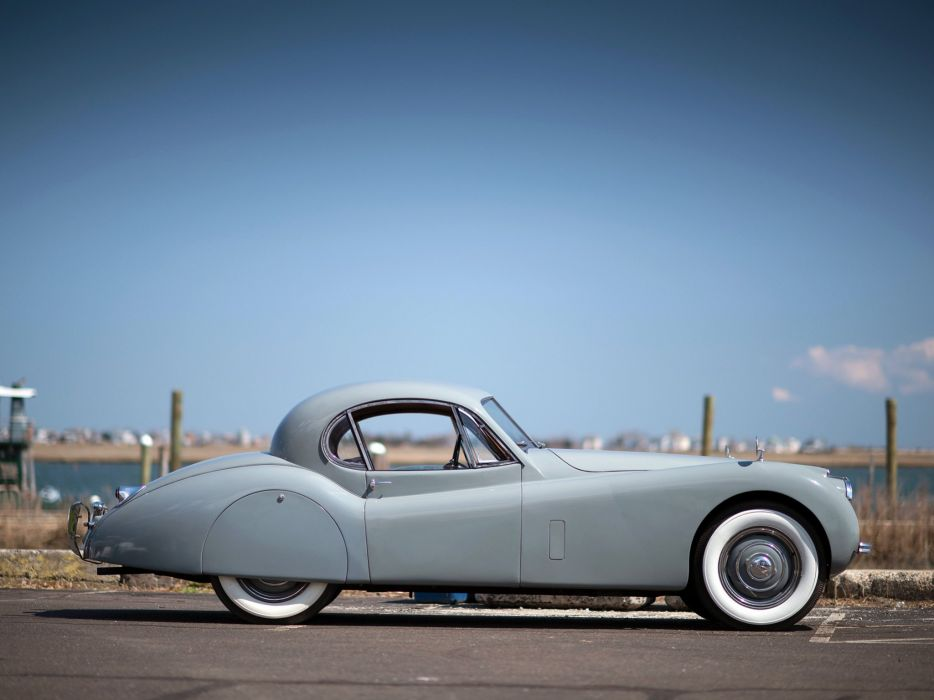 1951 Jaguar XK120 Fixed Head Coupe luxury retro wallpaper
