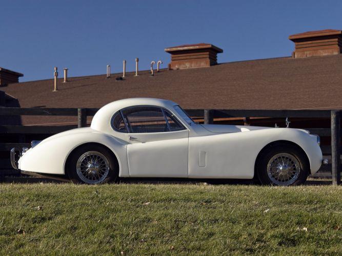 1952 Jaguar XK120 Fixed Head Coupe luxury retro wallpaper