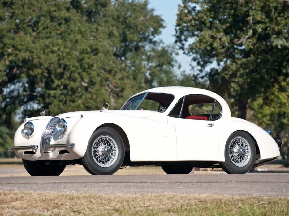 1952 Jaguar XK120 Fixed Head Coupe luxury retro wallpaper