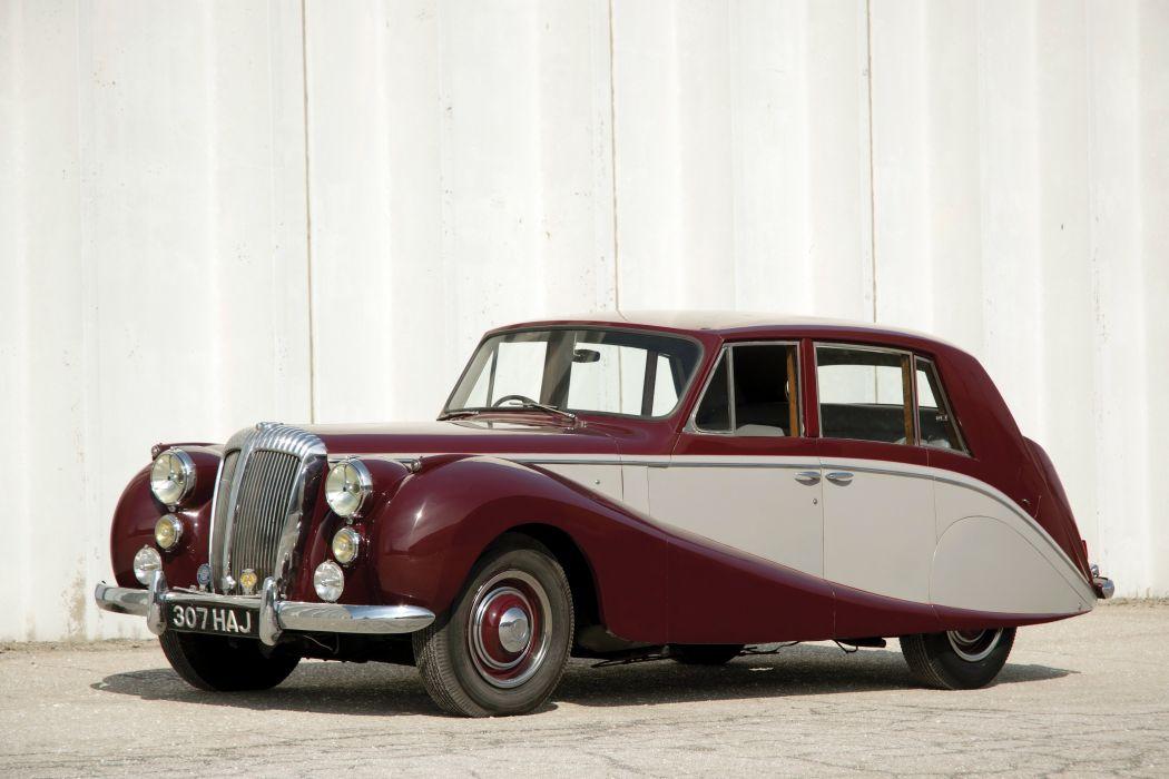1953 Daimler Empress Saloon Hooper Mk-II limosuine luxury retro wallpaper
