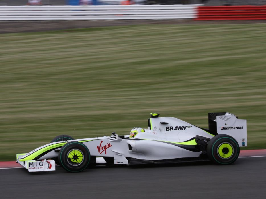 2009 Brawn BGP 001 F-1 formula race racing wallpaper