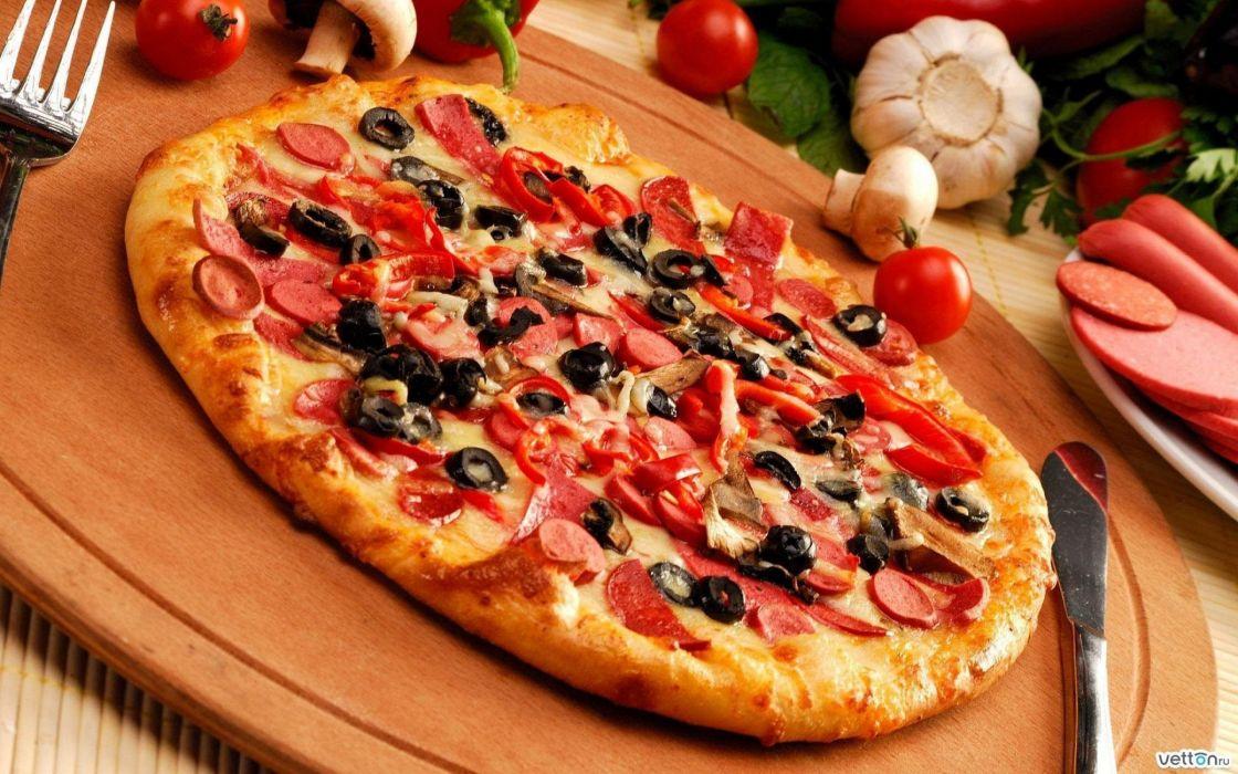 pizza ingredientes comida wallpaper