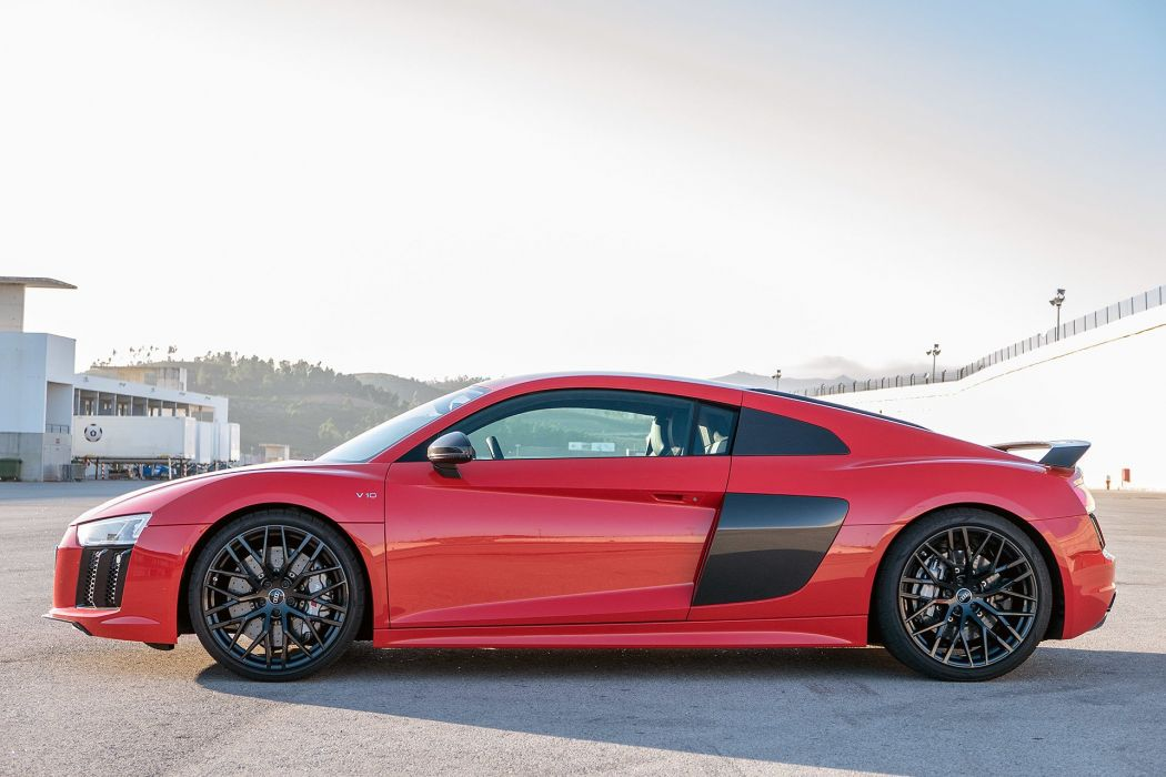 2017 Audi R8 v10 cars coupe red wallpaper