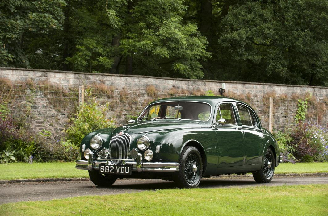 1959 Jaguar Mk1 Sports Saloon luxury retro wallpaper