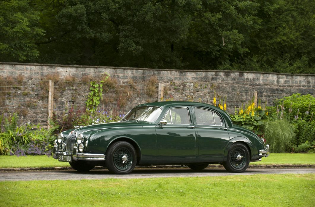 1959 Jaguar Mk1 Sports Saloon luxury retro wallpaper