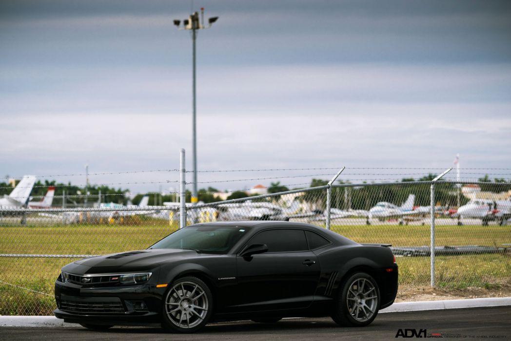 Chevrolet Camaro SS ADV1 wheels black cars wallpaper