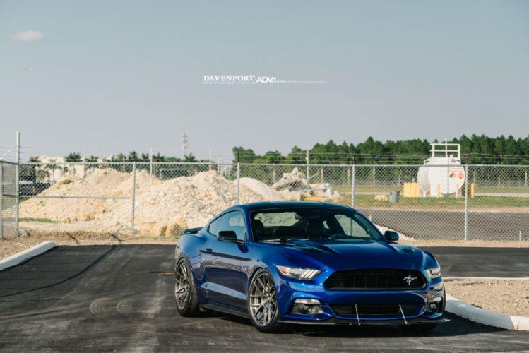 Ford Mustang GT ADV1 wheels blue cars wallpaper