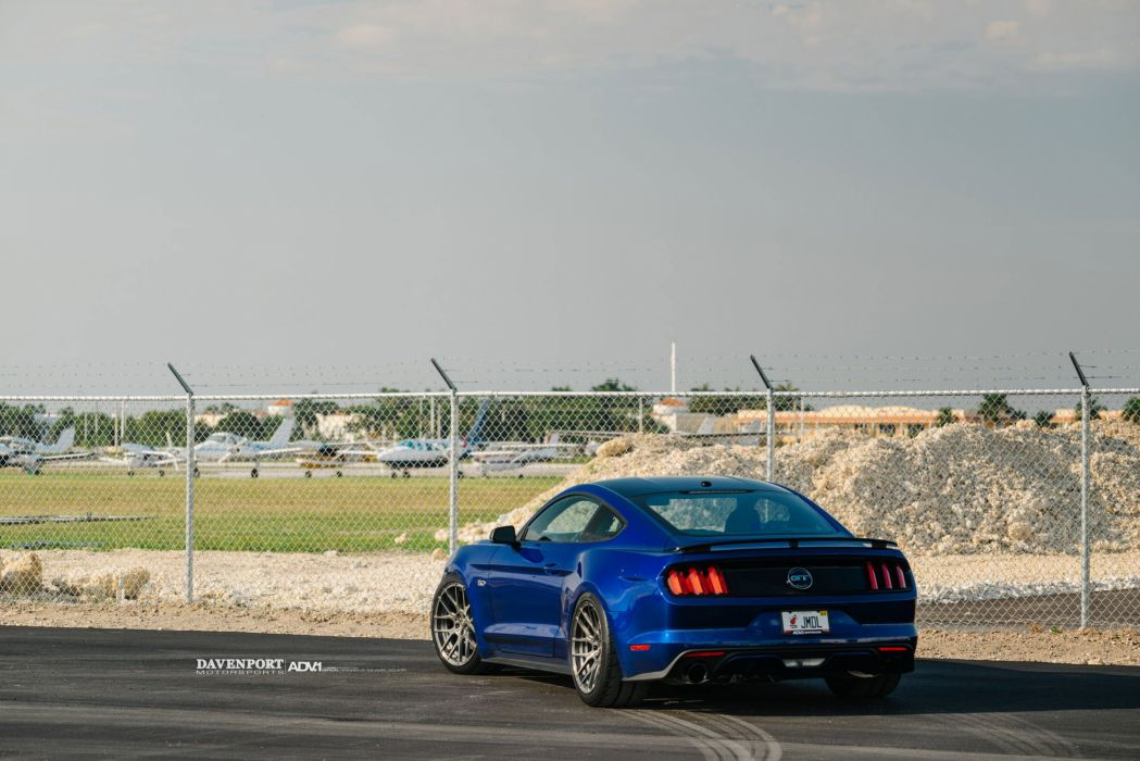 Ford Mustang GT ADV1 wheels blue cars wallpaper