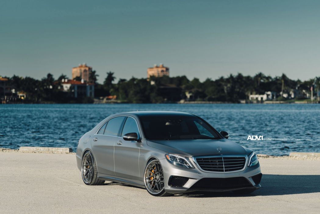 Mercedes S63 AMG ADV1 wheels sedan cars wallpaper
