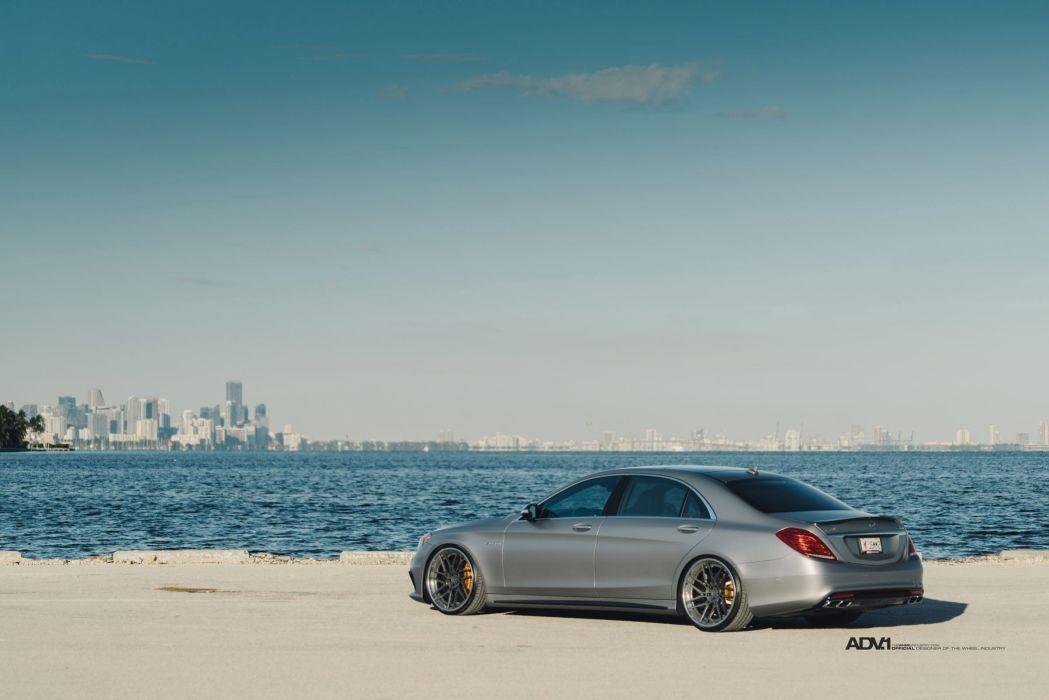 Mercedes S63 AMG ADV1 wheels sedan cars wallpaper