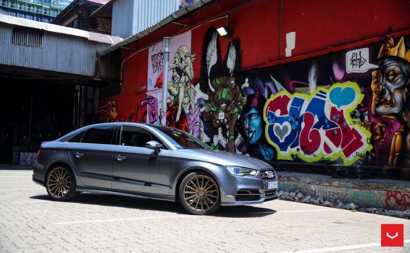 Audi S3 vossen wheels sedan cars wallpaper