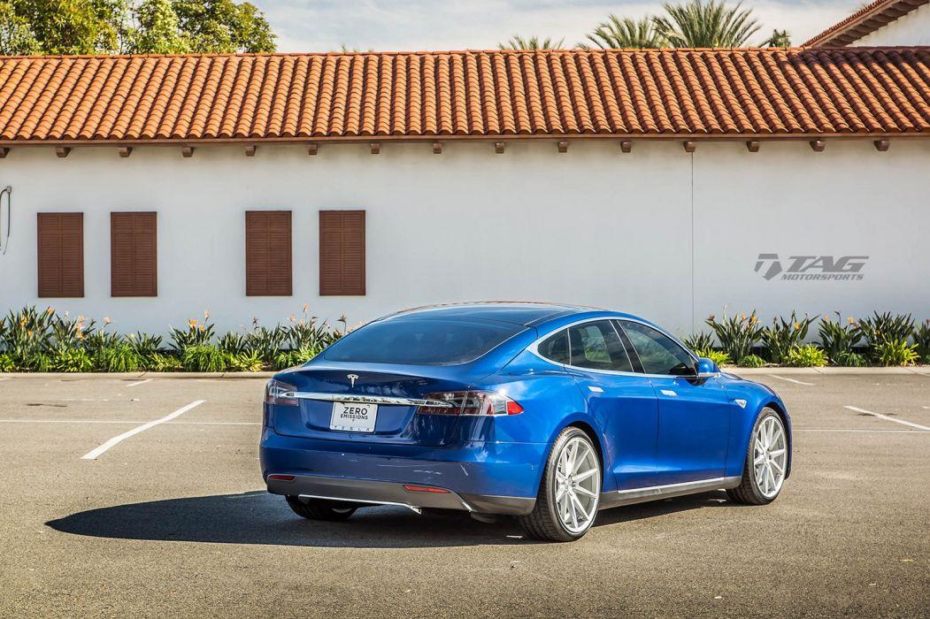 Tesla Model S vossen wheels sedan cars electric wallpaper