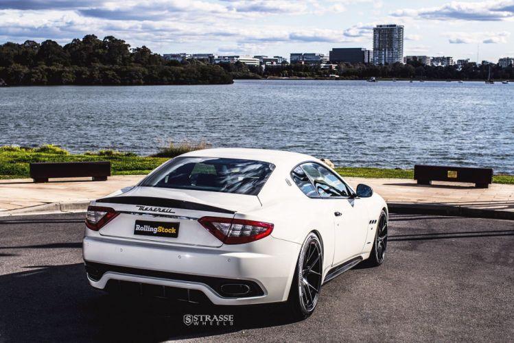 Maserati Gran Turismo S strasse wheels coupe white cars wallpaper