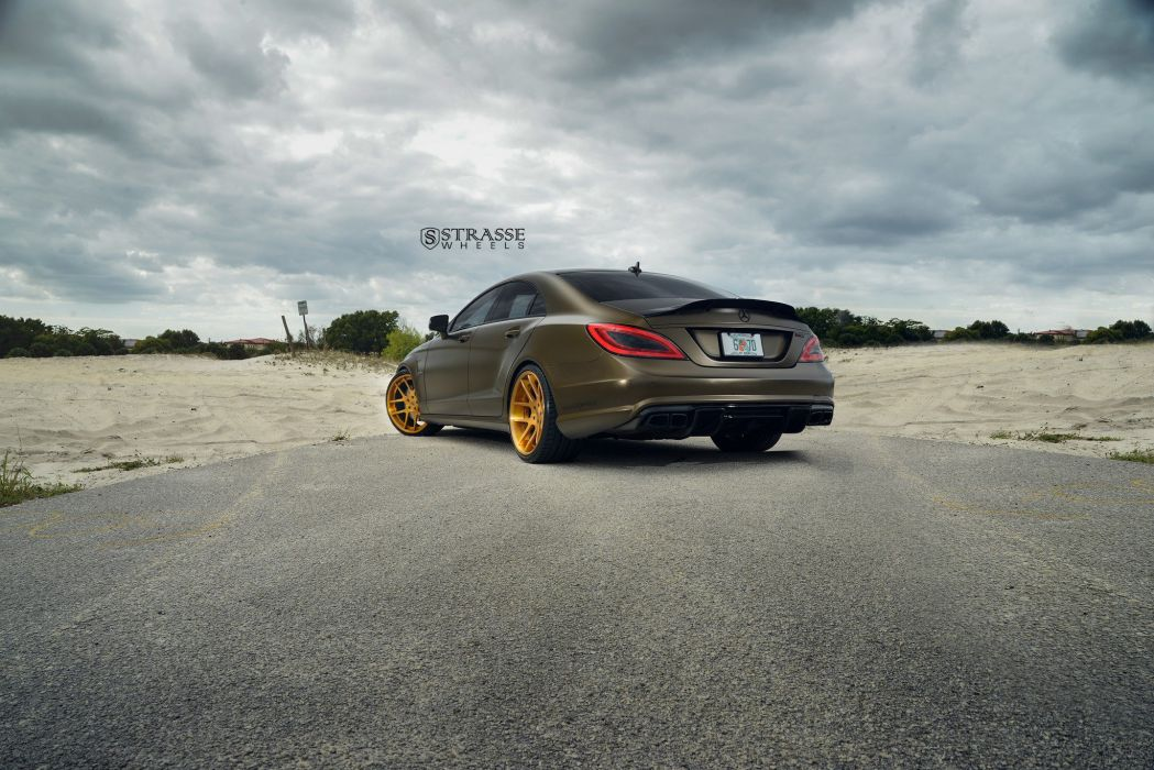 mercedes CLS-63 strasse wheels sedan cars wallpaper