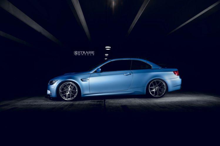 BMW M3 E93 strasse wheels BLUE cars wallpaper