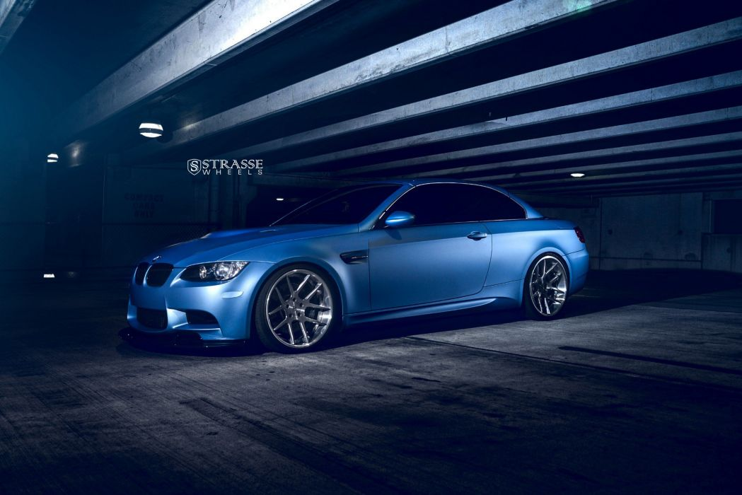 BMW M3 E93 strasse wheels BLUE cars wallpaper