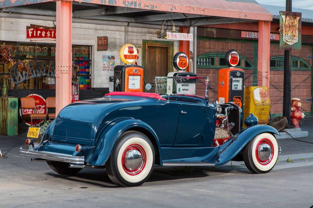 1930 Ford Model-A V-8 Roadster custom hot rod rods vintage wallpaper