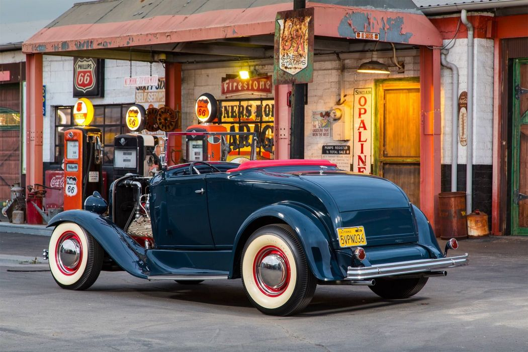 1930 Ford Model-A V-8 Roadster custom hot rod rods vintage wallpaper