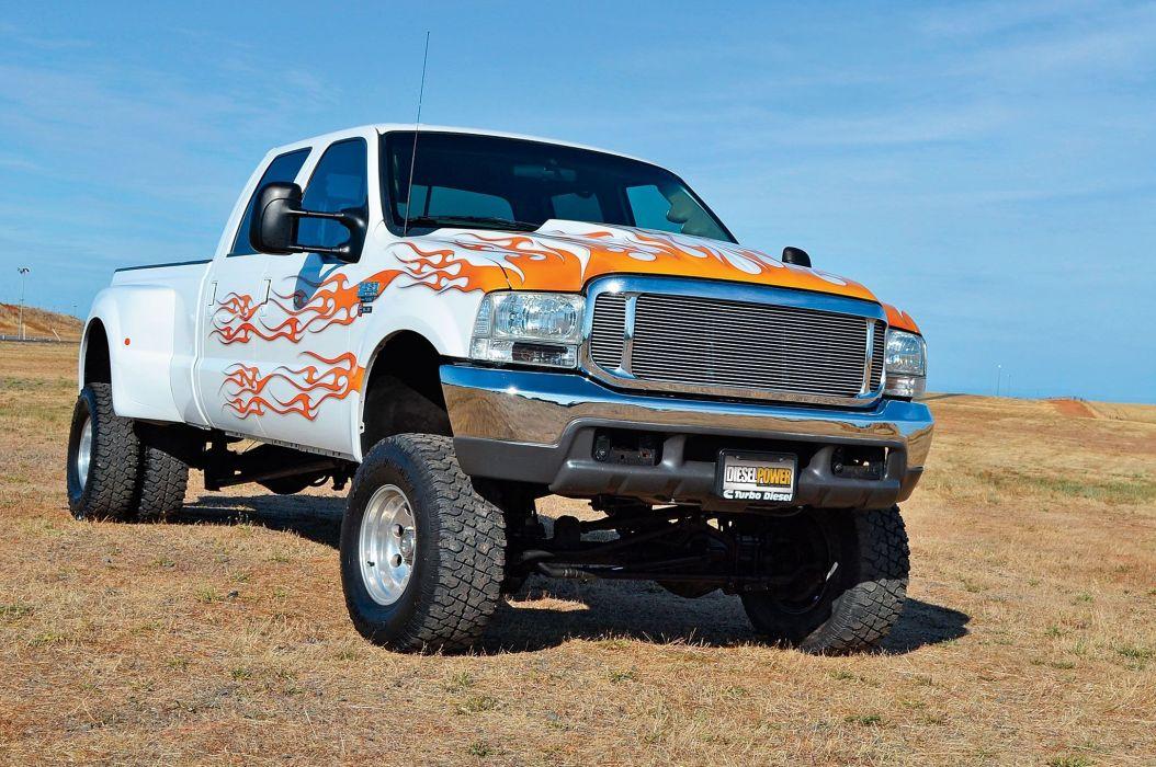 2000 Ford F-350 4x4 pickup custom tuning f350 wallpaper