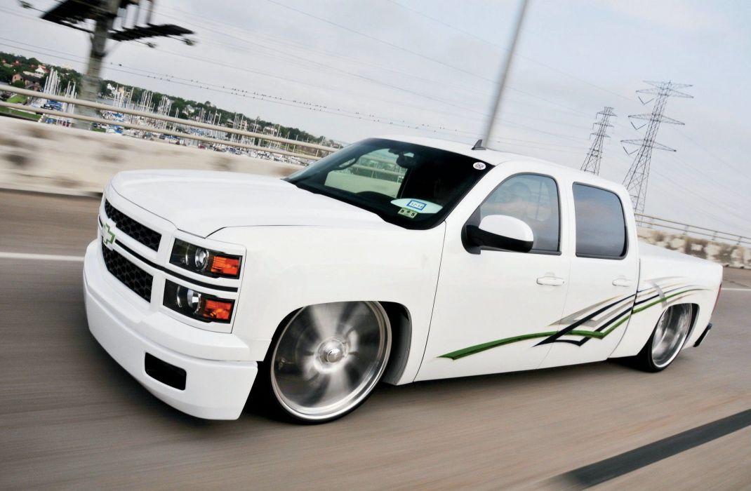 2008 Chevrolet Silverado pickup custom tuning lowrider hot rod rods wallpaper