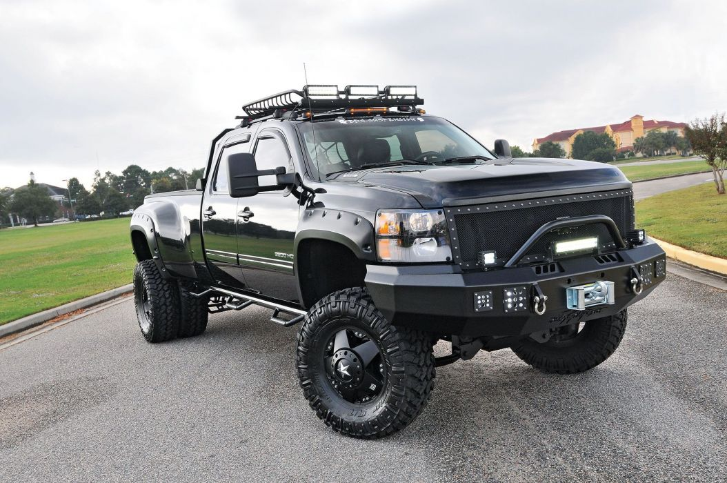 2011 Chevrolet Silverado 3500HD Dualie 4x4 tuning custom pickup wallpaper