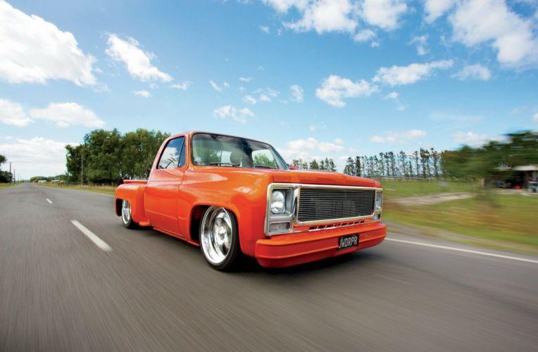 1979 Chevrolet C10 Stepside pickup custom lowrider tuning hot rod rods wallpaper