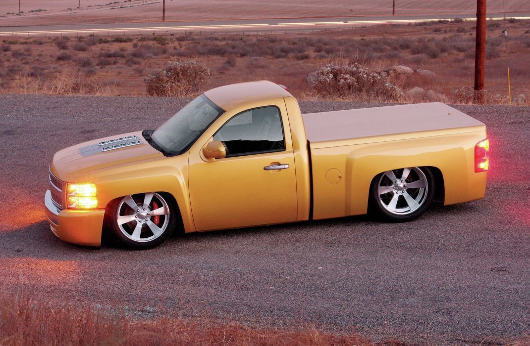 2007 Chevrolet Silverado pickup custom lowrider hot rod rods wallpaper