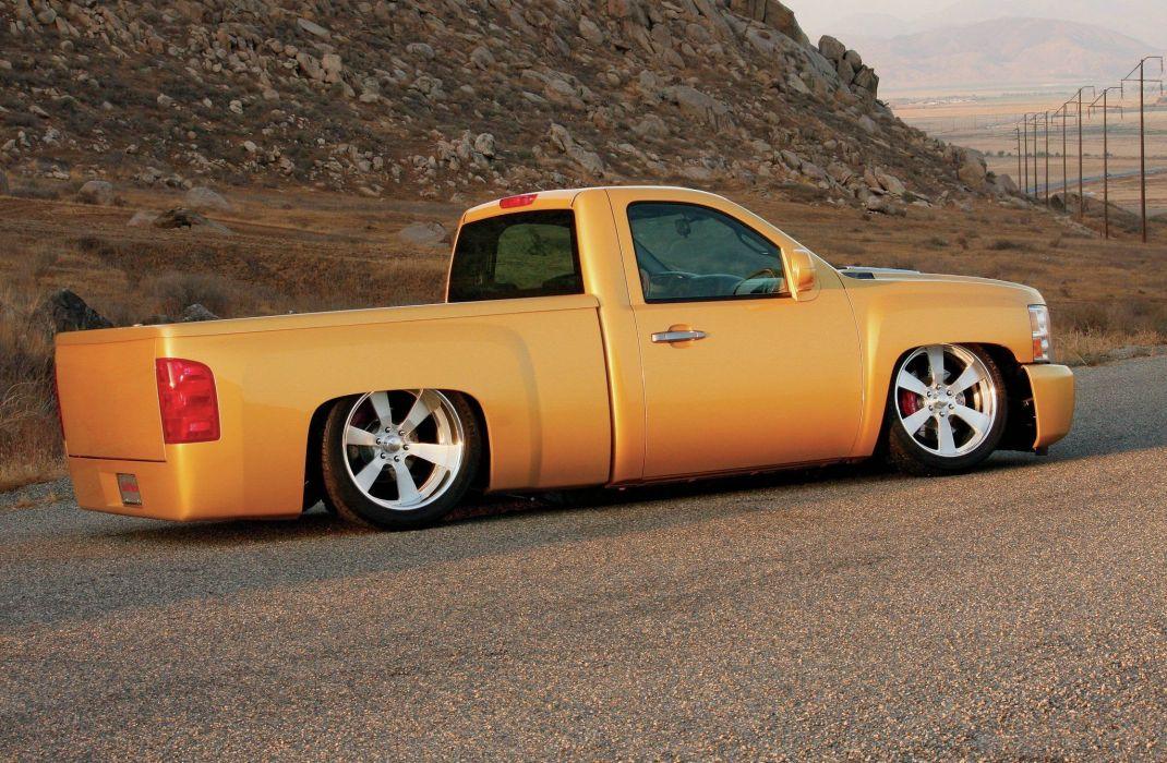 2007 Chevrolet Silverado pickup custom lowrider hot rod rods wallpaper